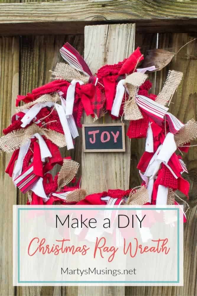 This simple, practically free craft will start the holiday season out right! Easy tutorial on how to make a DIY Christmas rag wreath.