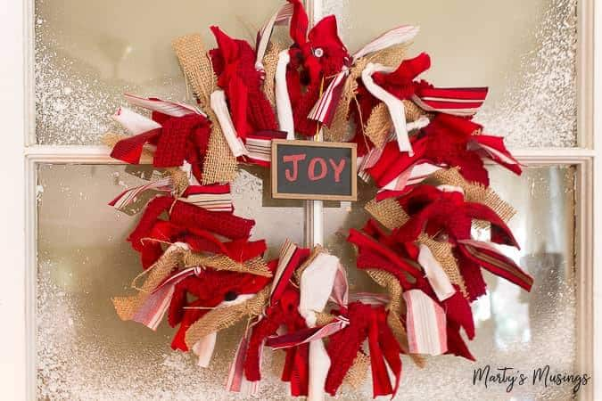 How to Make a DIY Christmas Rag Wreath