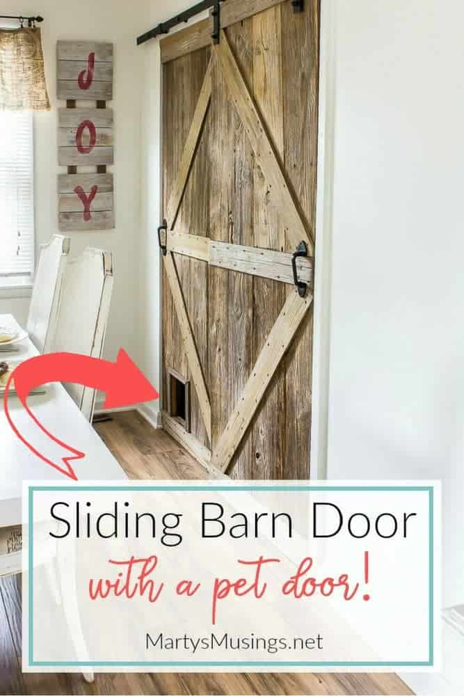How To Build A Sliding Barn Door With A Pet Door