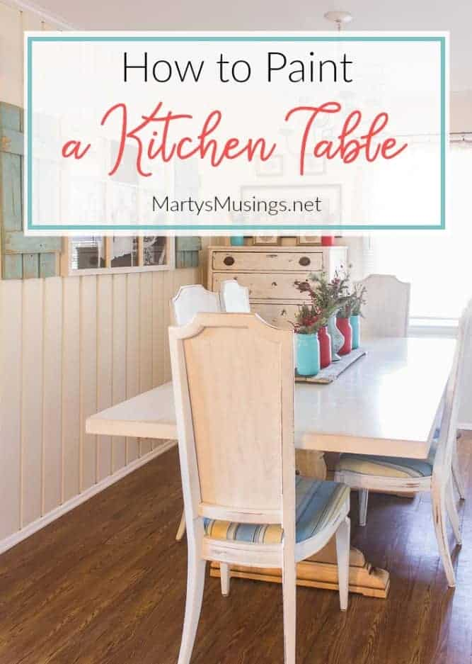 how to paint a kitchen table white