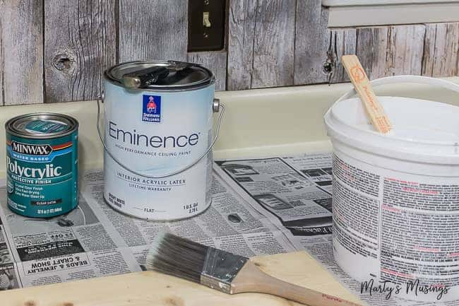 materials for painting a farmhouse table white