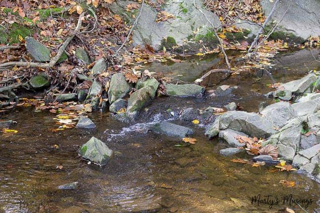serene picture of rocks in stream to help with meditation