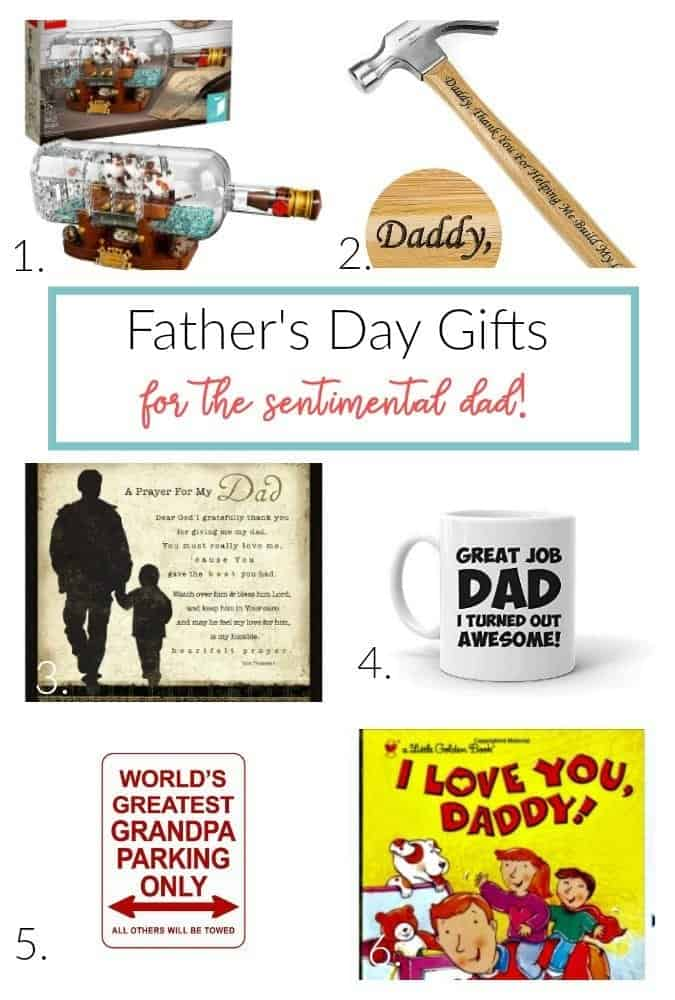 Father's Day gifts for the sentimental dad