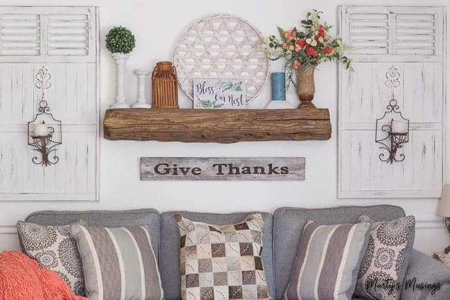DIY Floating Mantel (Build one out of Barn Wood!)