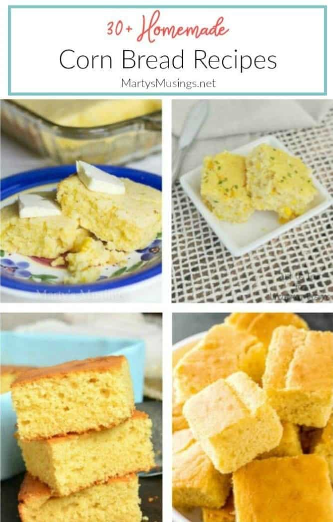 creamy cornbread recipe collage Marty's Musings