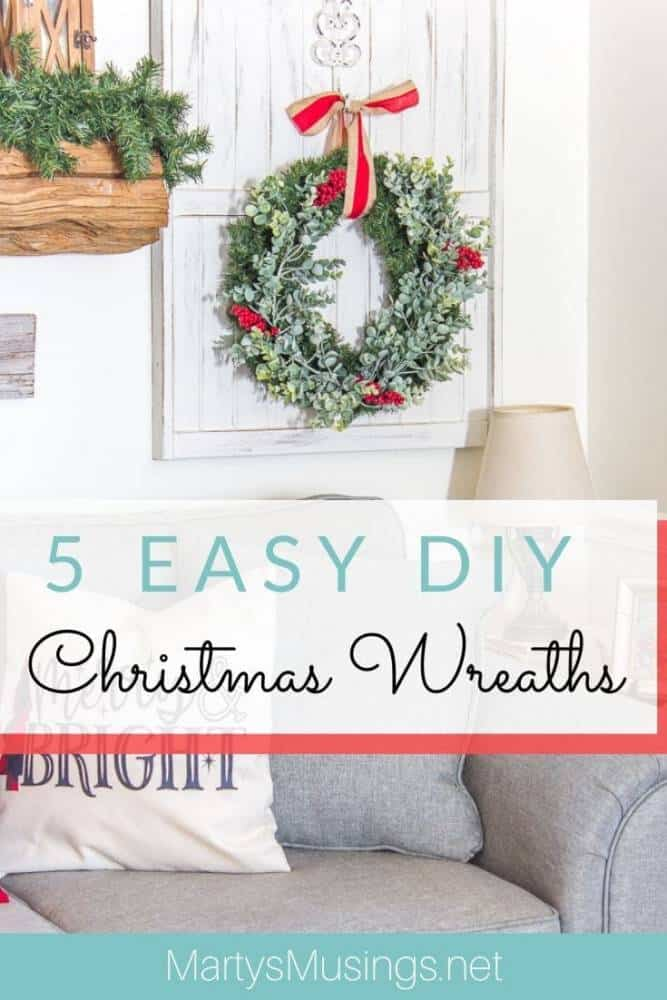 5 easy DIY Christmas wreaths
