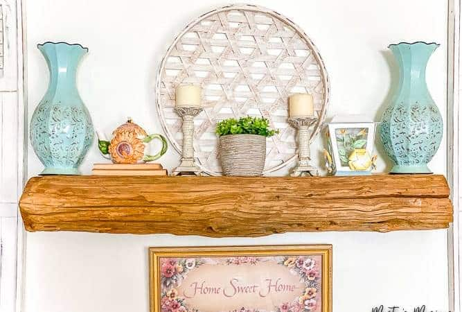 Easy Spring Mantel + Inexpensive Decorating Ideas