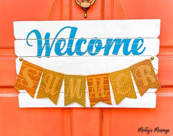 welcome summer front door sign