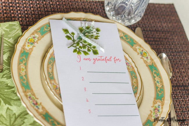 I am grateful for printable with vintage china
