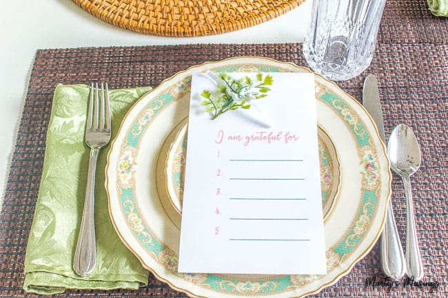 Free Thanksgiving Printable: Practice Gratitude