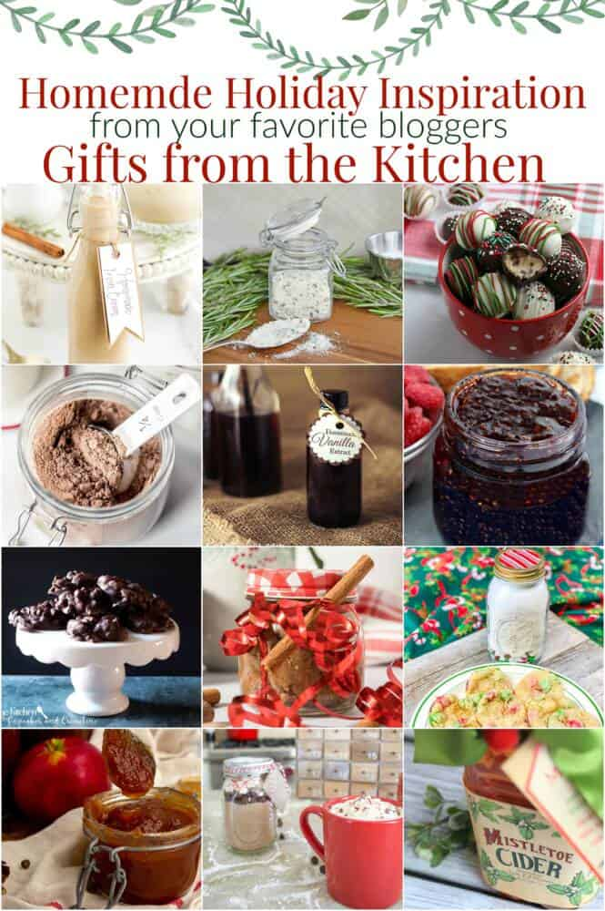 Gifts from the kitchen with Christmas gifts of all kinds
