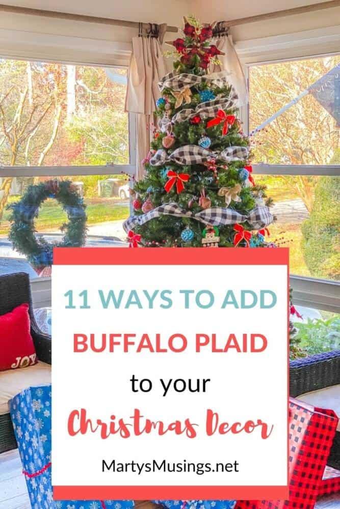 11 ways to add bufffalo plaid to your Christmas decor