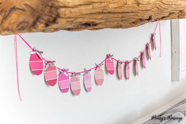 DIY Paint Chip Easter Egg Banner